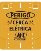 Acessório  Placa De Advertência Cerca Elétrica - JFL Alarmes