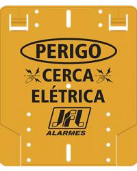 Detalhes do produto Acessório  Placa De Advertência Cerca Elétrica - JFL Alarmes